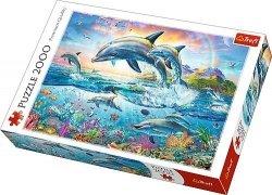Puzzle 2000 Trefl 27087 Wesołe Delfiny