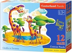 Puzzle 12 Maxi Castorland B-120178 Żyrafy
