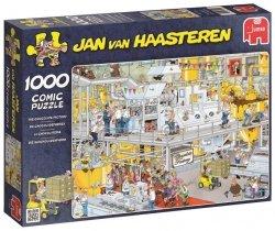 Puzzle 1000 Jumbo 17452 Fabryka Czekolady - Jan Van Haasteren