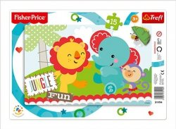 Puzzle Ramkowe 15 Trefl 31194 Dżungla - Rainbow Forest