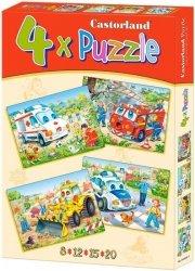 Puzzle 8,12,15,20 Castorland B-04324 - Pojazdy Robocze