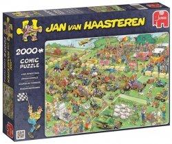 Puzzle 2000 Jumbo 19022 Jan Van Haasteren - Wyścig Kosiarek