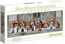 Puzzle 1000 Clementoni 39435 Psy - Beagle - Panorama