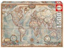 Puzzle 1500 Educa 16005 Polityczna Mapa Świata