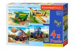 Puzzle 8,12,15,20 Castorland B-041039 Maszyny Rolnicze