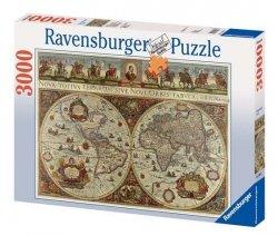 Puzzle 3000 Ravensburger 170548 Wielka Mapa Świata - 1665 Rok