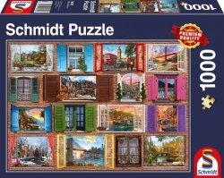 Puzzle 1000 Schmidt 58325 Okno na Świat