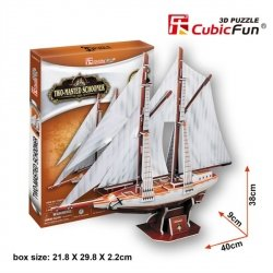 Puzzle 3D CubicFun 81 Two - Mastedschooner - T4007h