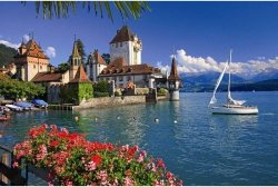 Puzzle 1000 Ravensburger 191390 Jezioro Thun - Bern