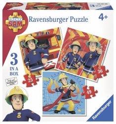 Puzzle 3x49 Ravensburger 070657 Strażak Sam