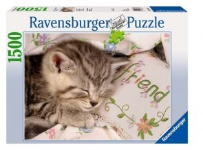 Puzzle 1500 Ravensburger 163380 Śpiący Kotek