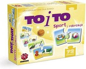 ! Puzzle Układanka Gra Edukacyjna Maxim To i To Sport G72.01.03