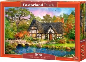 Puzzle 500 Castorland B-52783 Domek - Most Stoney