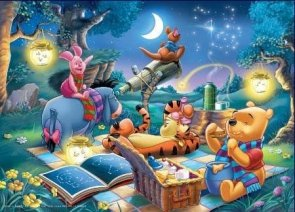 Puzzle 1000 Ravensburger 158751 Wieczorny Piknik Kubusia