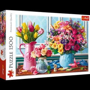 Puzzle 1500 Trefl 26157 Kwiaty w Wazonach