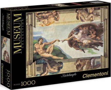 Puzzle 1000 Clementoni 31402 Michał Anioł - Stworz Adama
