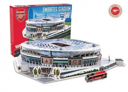 Puzzle 3D Trefl M-3735 Model Stadionu Emirates - Arsenal F.C. 108 el.