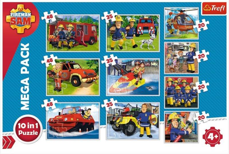 Puzzle 10w1 Trefl 90356 Strażak Sam