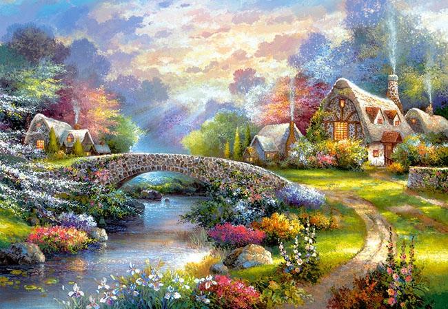 Puzzle 1000 Castorland C-103171 Domek - Springtime Glory