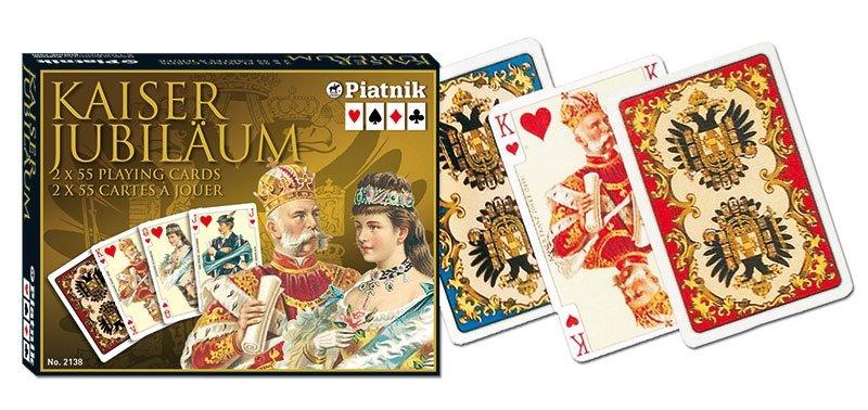 Karty do Gry Lux Piatnik 2 Talie 2138 Cesarskie