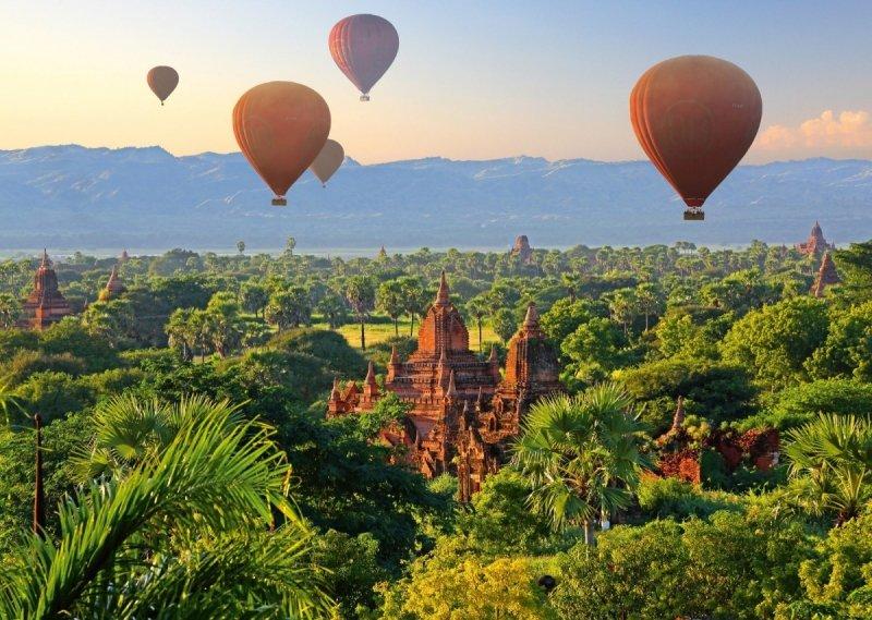 Puzzle 1000 Schmidt 58956 Balony nad Mandalaj - Mjanma