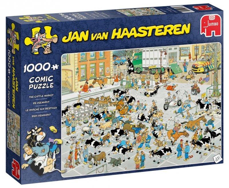 Puzzle 1000 Jumbo 19075 Jan van Haasteren - Giełda Zwierząt