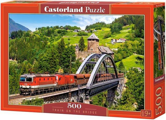Puzzle 500 Castorland B-52462 Pociąg na Moście