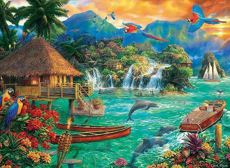 Puzzle 3000 Trefl 33072 Życie na Wyspie