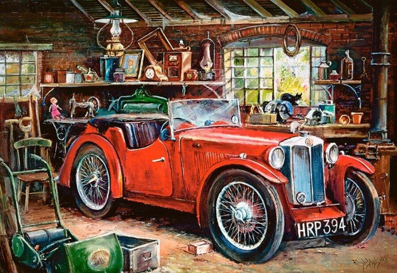 Puzzle 1000 Castorland C-104574 Vintage Garaż