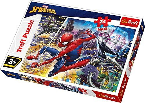 Puzzle 24 Maxi Trefl 14289 Nieustraszony Spider - Man