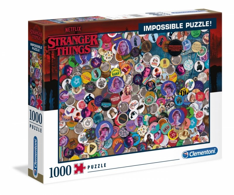Puzzle 1000 Clementoni 39528 Stranger Things Impossible - Dziwniejsze Rzeczy