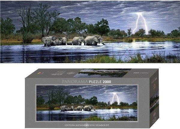 Puzzle 2000 Heye 29508 Humboldt - Herd of Elephants