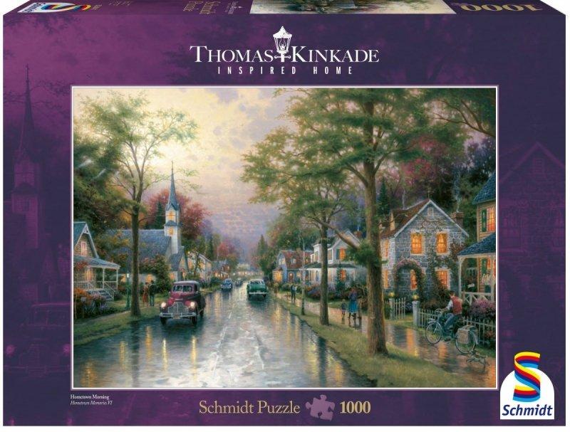 Puzzle 1000 Schmidt 58441 Thomas Kinkade - Poranek w Rodzinnym Mieście