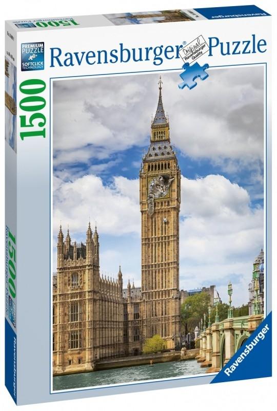 Puzzle 1500 Ravensburger 160099 Big Ben z Kotem