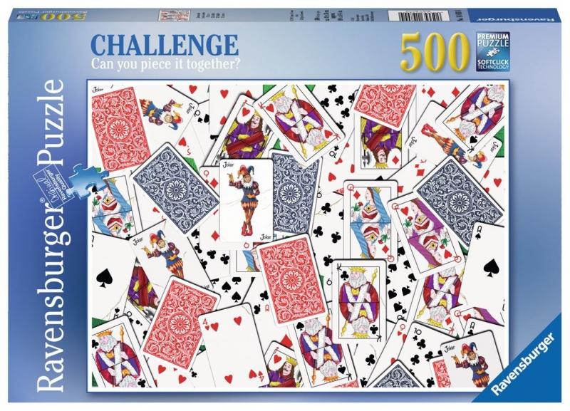 Puzzle 500 Ravensburger 148004 Przetasowane Karty
