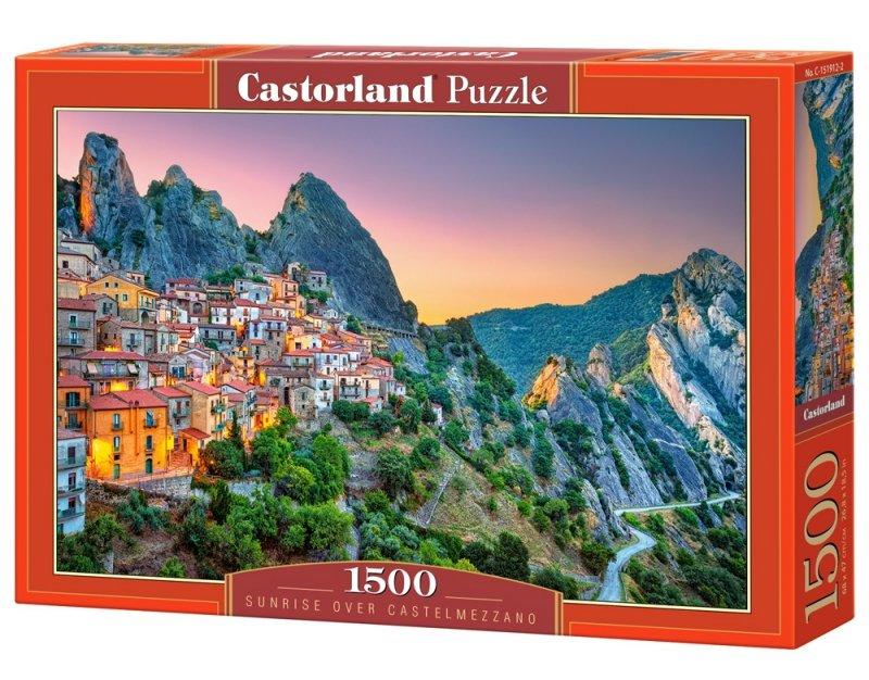 Puzzle 1500 Castorland C-151912 Wschód słońca nad Castelmezzano - Włochy