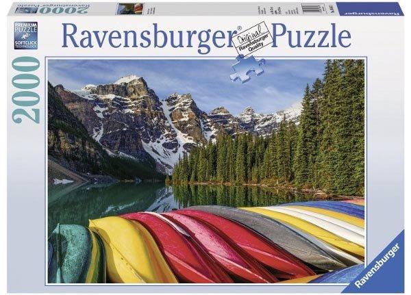 Puzzle 2000 Ravensburger 166473 Górskie Kajaki