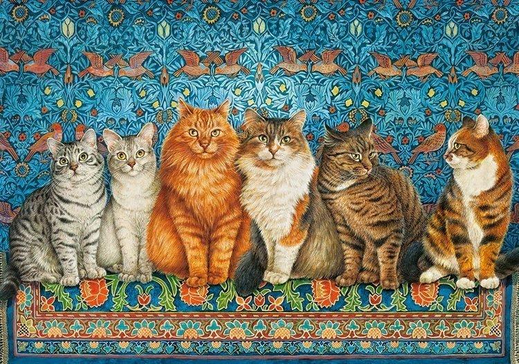 Puzzle 500 Castorland B-53469 Arystokracja Kotów