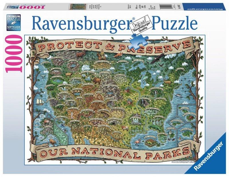 Puzzle 1000 Ravensburger 198597 Parki Narodowe USA