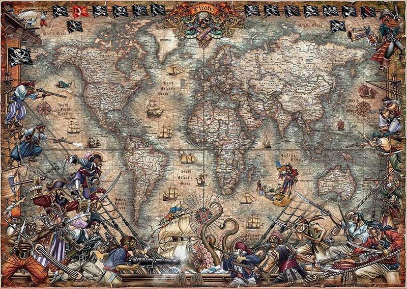 Puzzle 2000 Educa 18008 Mapa Piratów