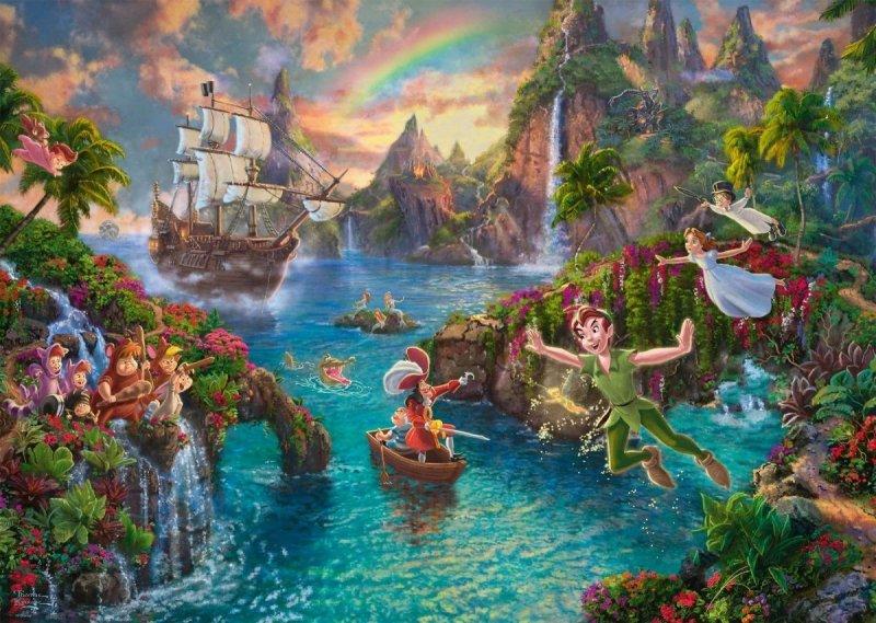 Puzzle 1000 Schmidt 59635 Thomas Kinkade - Piotruś Pan - Disney