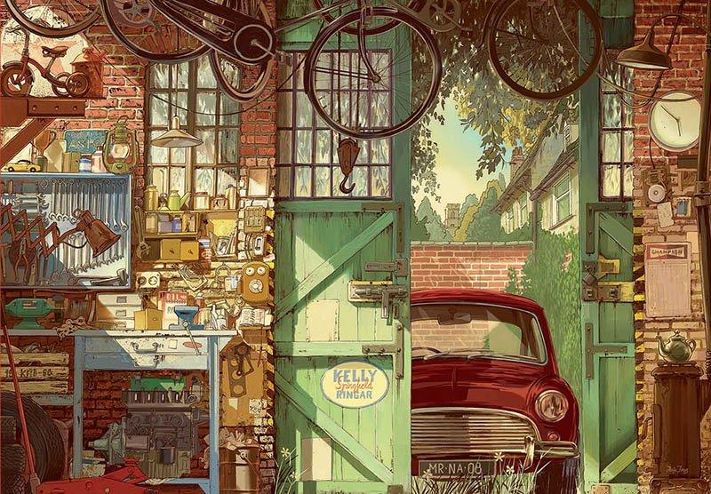 Puzzle 1500 Educa 18005 Stary Garaż - Arly Jones
