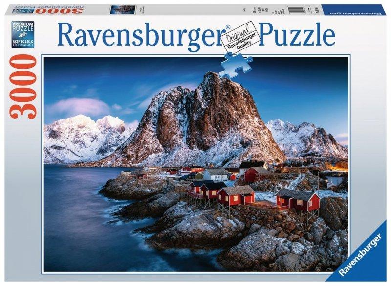 Puzzle 3000 Ravensburger 170814 Norwegia - Hamnoy - Lofoten