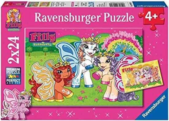 Puzzle 2x24 Ravensburger 090891 Świat Filly 2w1