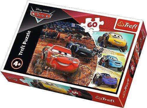 Puzzle 60 Tref 17327 Auta 3 - Zygzak McQeen z Przyjaciółmi