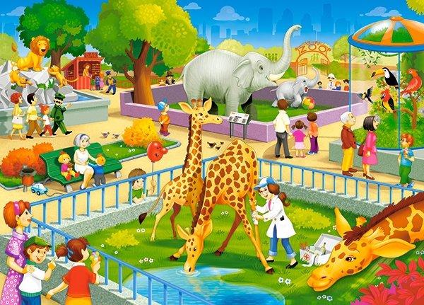 Puzzle 60 Castorland B-066155 Wizyta w Zoo