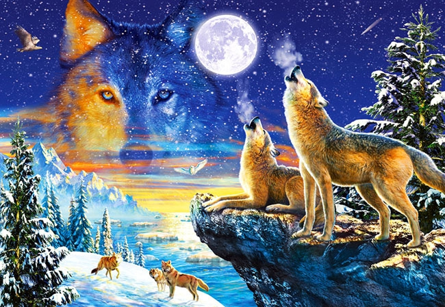 Puzzle 1000 Castorland C-103317 Wilki - Howling Wolves