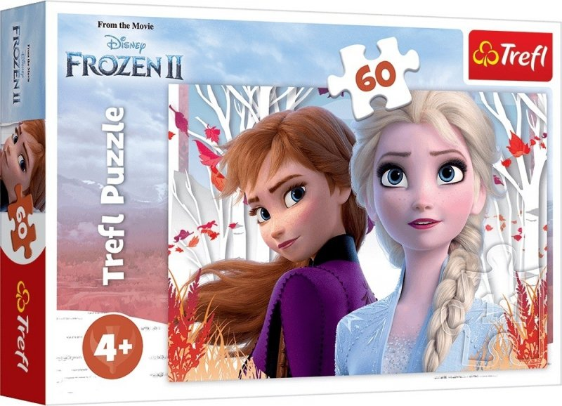 Puzzle 60 Trefl 17333 Kraina Lodu 2 - Zaczarowany Świat Anny i Elsy