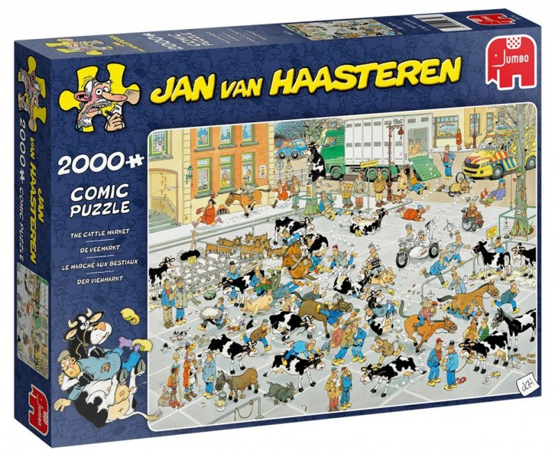 Puzzle 2000 Jumbo 19078 Jan Van Haasteren - Giełda Zwierząt