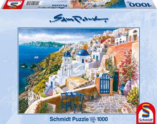 Puzzle 1000 Schmidt 58560 View from Santorini Sam Park